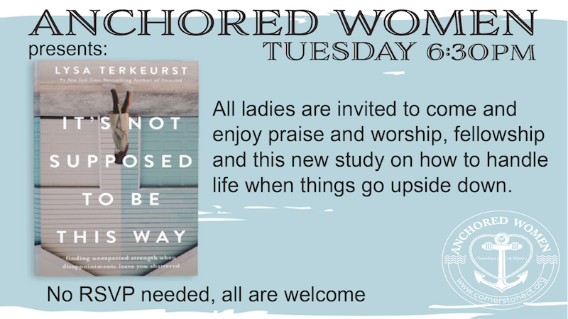 LIVE STREAMED- Anchored Women's Ministry